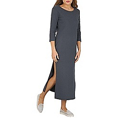 Indulgence - Grey split front maxi dress