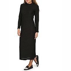 Indulgence - Black high neck maxi dress