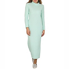 Indulgence - Green high neck maxi dress