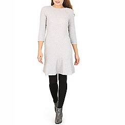 Indulgence - Grey drop hem dress