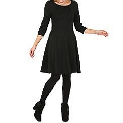 Indulgence - Black skater dress