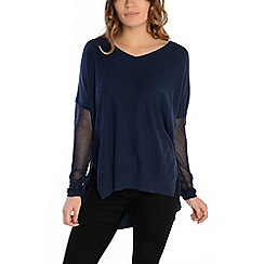 Alice & You - Navy v-neck knitted jumper