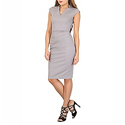 Jolie Moi - Grey high collar bodycon dress