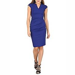 Jolie Moi - Royal high collar bodycon dress