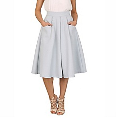 Jolie Moi - Grey textured a-line midi skirt