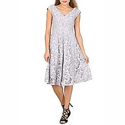 Jolie Moi - Grey 50s lace fit & flare dress