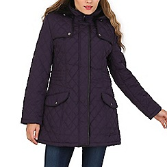 David Barry - Purple diamond stich parka