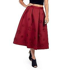 Zibi London - Dark red laser cut prom skirt