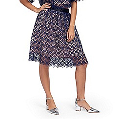 Zibi London - Navy crochet lace skirt