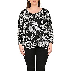 Samya - Black floral print top