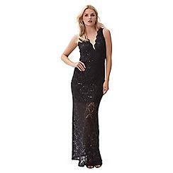 Jane Norman - Black maxi lace sequin dress