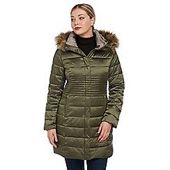 Roman Originals - Khaki longline padded coat