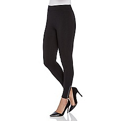 Roman Originals - Black zip scuba leggings