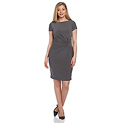 Roman Originals - Grey knot detail shift dress