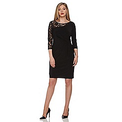 Roman Originals - Black lace one shouder dress