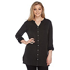 Roman Originals - Black longline shirt
