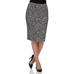 Roman Originals - Grey chevron pencil skirt