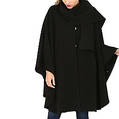 David Barry - Black cashmere cape