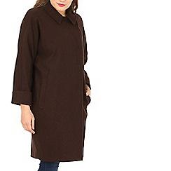 David Barry - Brown cocoon coat