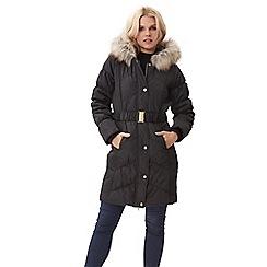 Jane Norman - Black longline puffa coat
