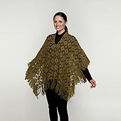 David Barry - Green italian poncho