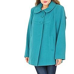 David Barry - Aqua faux cashmere jacket