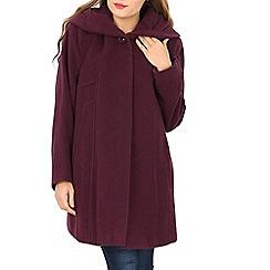 David Barry - Purple wool mix coat