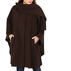 David Barry - Dark tan cashmere cape
