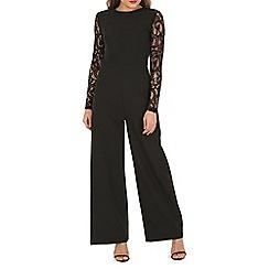Mela - Black lace sleeve jumpsuit