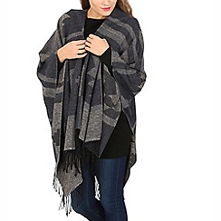 Izabel London - Navy aztec tassel poncho