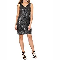 Izabel London - Black sleeveless sequin dress