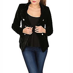 Izabel London - Black vintage style velvet jacket