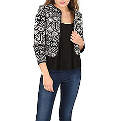 Izabel London - Black embroidered jacquard jacket
