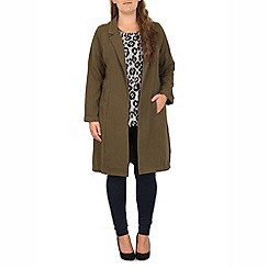 Samya - Khaki longline jacket