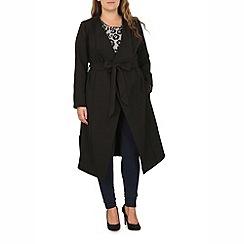 Samya - Black side split waterfall jacket