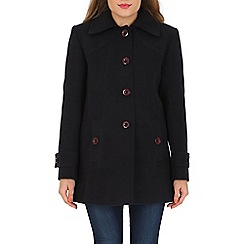 David Barry - Navy faux cashmere duffle coat