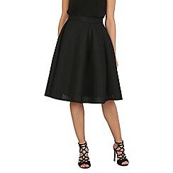 Blue Vanilla - Black a-line mid length mesh skirt