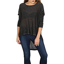 Voulez Vous - Black high low hem top