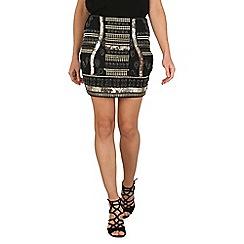 Tenki - Black beaded bodycon skirt