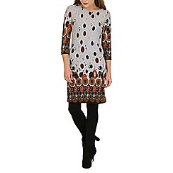 Tenki - Grey circle print tunic dress