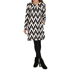 Tenki - Cream geo print tunic dress