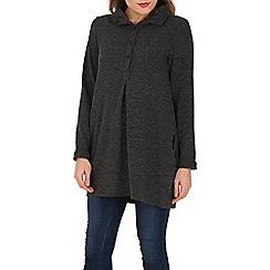 Tenki - Grey ribbed pullover jumper