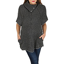 Tenki - Grey cap sleeve knitted jumper