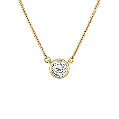 Buckley London - Gold central brilliant pendant