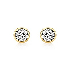 Buckley London - Gold gold central brilliant studs