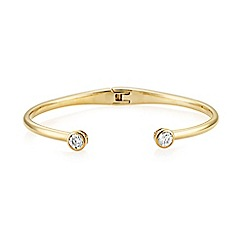 Buckley London - Gold central brilliant bangle