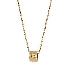 Buckley London - Gold london rocks pendant