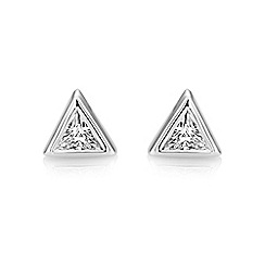 Buckley London - Silver central trillion studs