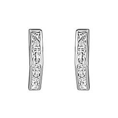 Buckley London - Silver adelphi stick earrings