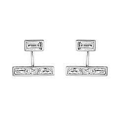 Buckley London - Silver adelphi two part earrings